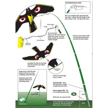 Ιπτάμενος απωθητικός αετός μαζί με κοντάρι   Bird Repellers στο  SECURETECH